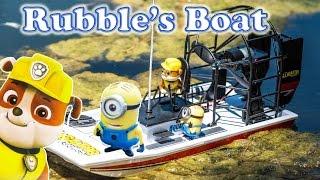 PAW PATROL Nickelodeon Paw Patrol Rubble Boat Tour a Paw Patrol Video Parody