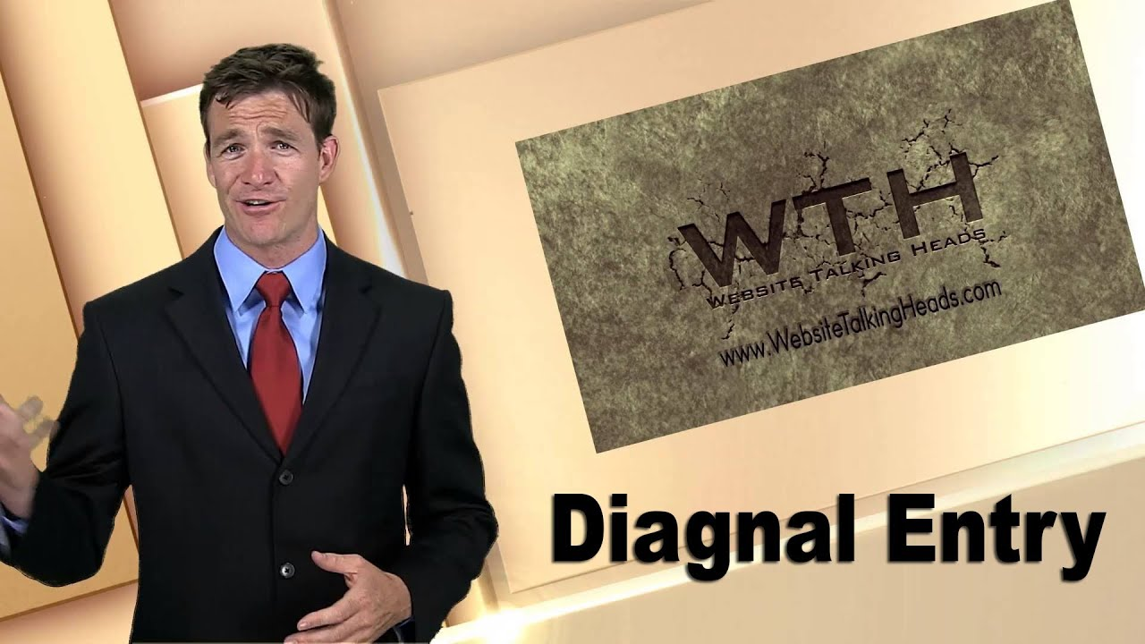 Custom Video Presentation Example - 'Diagonal entry'