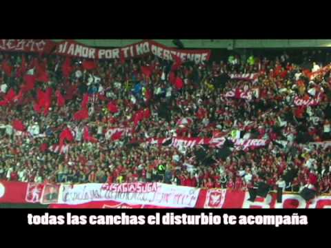 """DISTURBIO ROJO BOGOTA- AMERICA VS BOGOTA F.C.2013"" Barra: Disturbio Rojo Bogotá • Club: América de Cáli"