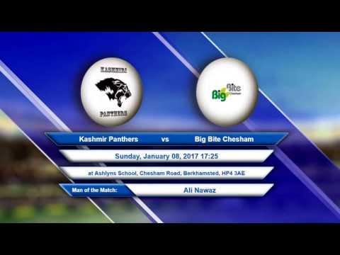 Video Kashmir Panthers VS Big Bite Chesham - 08-Jan-2017