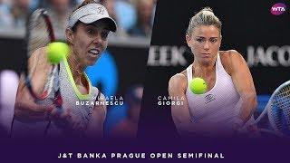 Mihaela Buzarnescu vs. Camila Giorgi | 2018 J&T Banka Prague Open Semifinal | WTA Highlights