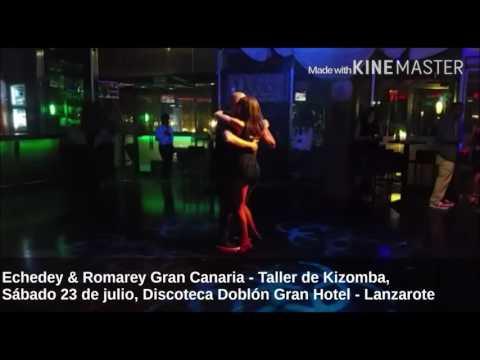 Echedey & Romarey Kizomba - Taller sábado 23 de julio en Discoteca Doblón Gran Hotel - Lanzarote