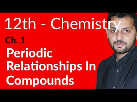 FSc Chemistry Book 2, Ch 1 - Periodic Relationships in Compounds - 12th Class Chemistry
