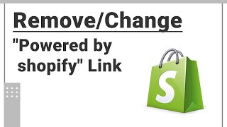 How To Remove or Change Powered by Shopify Link From Footer   For a Non - Coder   Ishi Themes   2020