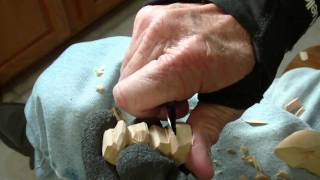 Carving The Minature Fisherman Part  3