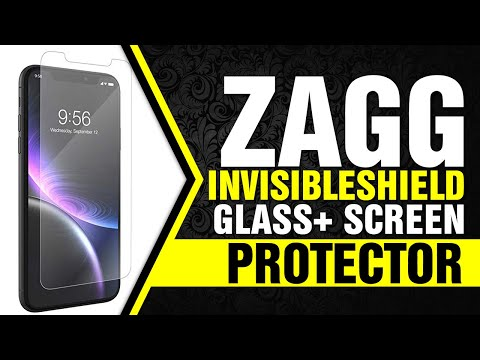 ZAGG InvisibleShield Glass+ Screen Protector – High-Definition Tempered Glass for The Apple iPhone