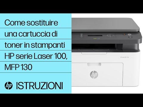 Come sostituire una cartuccia di toner in stampanti HP serie Laser 100, MFP 130