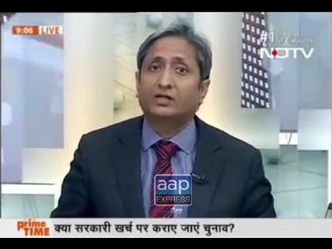 Ravish Kumar exposed political parties on their election funding- NDTV I Prime Time I