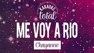 Me voy a Río - Chayanne - Karaoke con coros