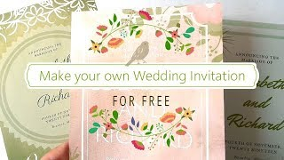 Make Your Own Wedding Invitation For FREE   3 Design Ideas   DIY Wedding Invitations With Canva