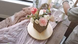 Small Basket Flower Arrangement