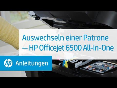 Auswechseln einer Patrone -- HP Officejet 6500 All-in-One