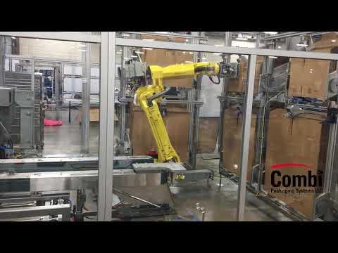 Formadora de cajas con robot tipo Random RCE para 6 cajas