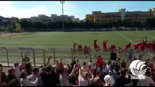 L'esultanza delle Pink Bari dopo la vittoria con la Roma, le biancorosse pronte per lo spareggio Serie A