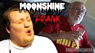 ANGRY GRANDPA THE MOONSHINE PRANK! REACTION!!!
