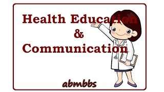 COMMUNICATION For HEALTH EDUCATION