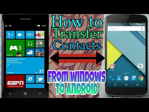 Download How To Transfer Contacts From Windows Phone To