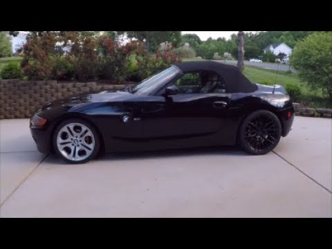 Different Rims and Offset depths and Spacers on BMW Z4.  4 walkarounds with different settings.