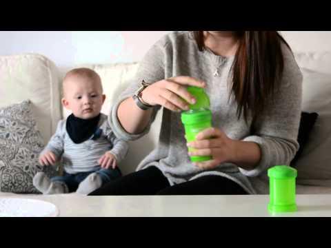 Biberón Anticólicos Verde Twistshake