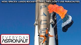 How SpaceX lands the Falcon 9: Why they don't use parachutes!