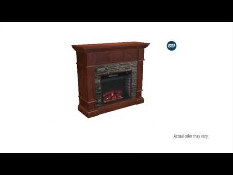 FE9637: Merrimack Simulated Stone Convertible Electric Fireplace Assembly Video