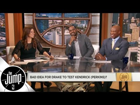 Was it a good idea for Drake to test Kendrick Perkins at the Raptors-Cavs game? | The Jump | ESPN