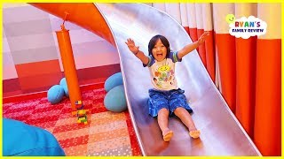 Kids indoor playground on the cruise ship and Giant Slide in our room!!!