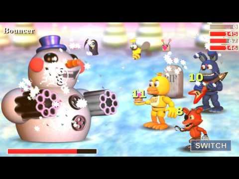 FNAF World Ep 2 Update 2 Bouncer The Snowman +Eyesore's