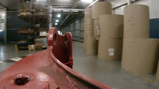 Driving the clamp truck