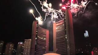 New Year Eve - Toronto Fireworks 2016