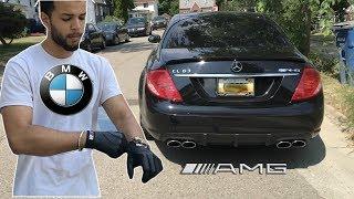 BMW Driver Drives A Mercedes AMG