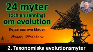 Thumbnail for video: Myter om Evolution - 2. Taxonomiska myter