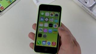 iPhone 5c Grün einrichten und erster Eindruck