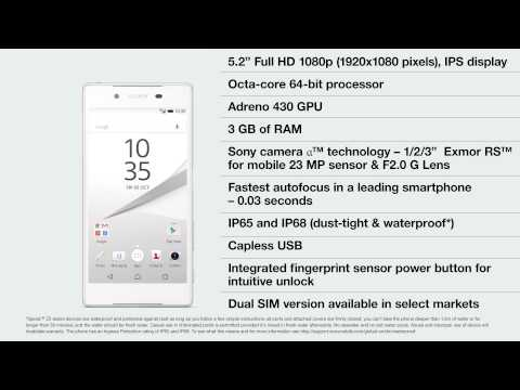 Introducing the Xperia Z5 flagship series: featuring Sony camera α™ technology, 0.03 seconds autofocus, and fingerprint sensor power button [video]