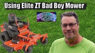 Using Elite ZT Bad Boy mower in Wichita Falls