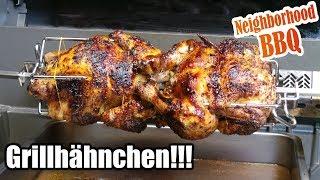 Grillhähnchen vom Drehspieß!!! Neighborhood BBQ
