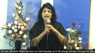 30 - 09 - 2015, Bible Study  On Sanctification Series By Pastor Pramila Jeyaraj