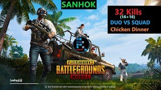 "[Hindi] PUBG Mobile | RON+SRten Duo Vs Squad ""32 Kills"" In Sanhok"