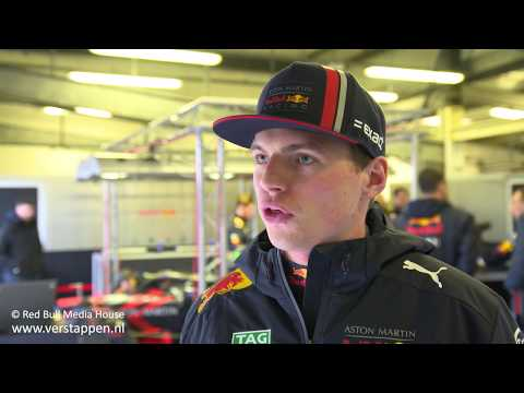 Max Verstappen interview, after RB15 debut at Silverstone