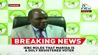 BREAKING NEWS: IEBC clears Macdonald Mariga to run for Kibra by-elections
