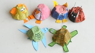 How To Make Animals From Egg Cartons   Crafts For Kids