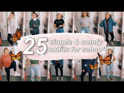 25 SIMPLE & COMFY SCHOOL OUTFITS (ft. what I actually wear in college)