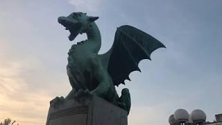 スロベニア・リュブリャナ散歩!ヨーロッパの知られざる美しい都市!SloveniaLjubljanawalkinthemornig