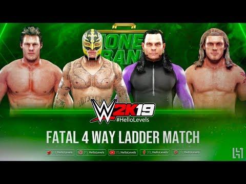 WWE 2K19 Fatal 4 Way Ladder Match Gameplay ft. Rey Mysterio vs Chris Jericho vs Jeff Hardy vs Edge