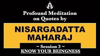 03 Meditation Based On Quotes By Nisargadatta Maharaj - Session 3