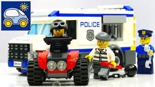 Лего Полиция 60043. Распаковка Лего Сити Полицейская Машина Lego City Prisoner Transporter. Картонка