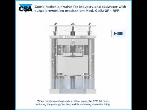 Golia RFP Anti-surge non slam anti water-hammer combination air