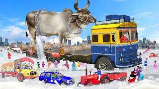 विशाल ट्रक गाय दूधवाला Giant Truck Cow Milk Wala Comedy Video हिंदी कहानिया Hindi Kahaniya Comedy