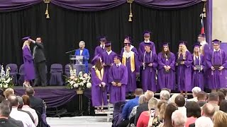 High School Holds Graduation With 600 People In Attendance