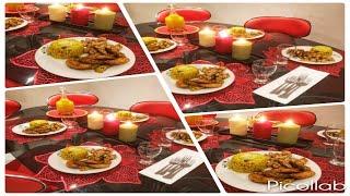 أفكار سهلة ورائعة لعشاء رومنسي / الأرز على طريقة البايلا مع البطاطس اللبنانية و شرائح الدجاج المتبل